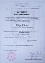 Certifikát tetování 1