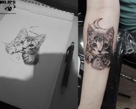 Princip tetování je jednoduchý, přenést motiv na kůži, provést to, už ale tak jednoduché není :)